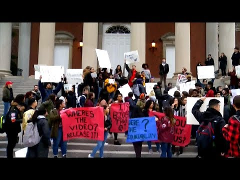 "Syracuse University students protest ""extremely racist"" fraternity video"