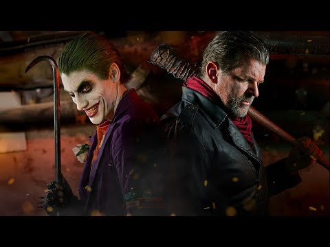 JOKER vs NEGAN ( The Walking Dead) - Super Power Beat Down (EPISODE 23)