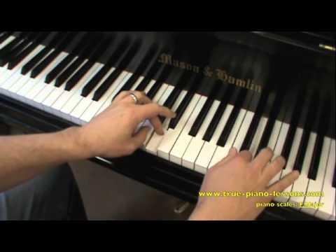 F Major Scale For Piano