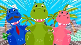 Baby T-Rex Dinosaurs Song Nursery Rhymes + More Baby Shark Songs For Children