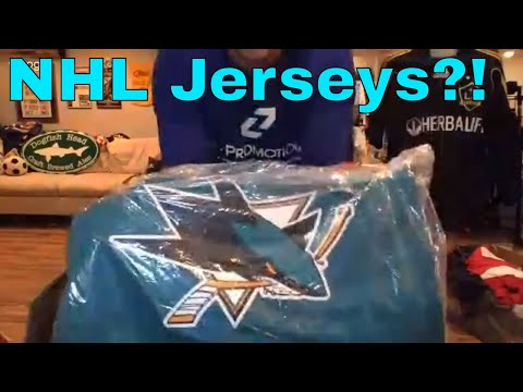 $1,200 and 50 lbs of Wholesale NHL Jerseys Unboxing for Resale