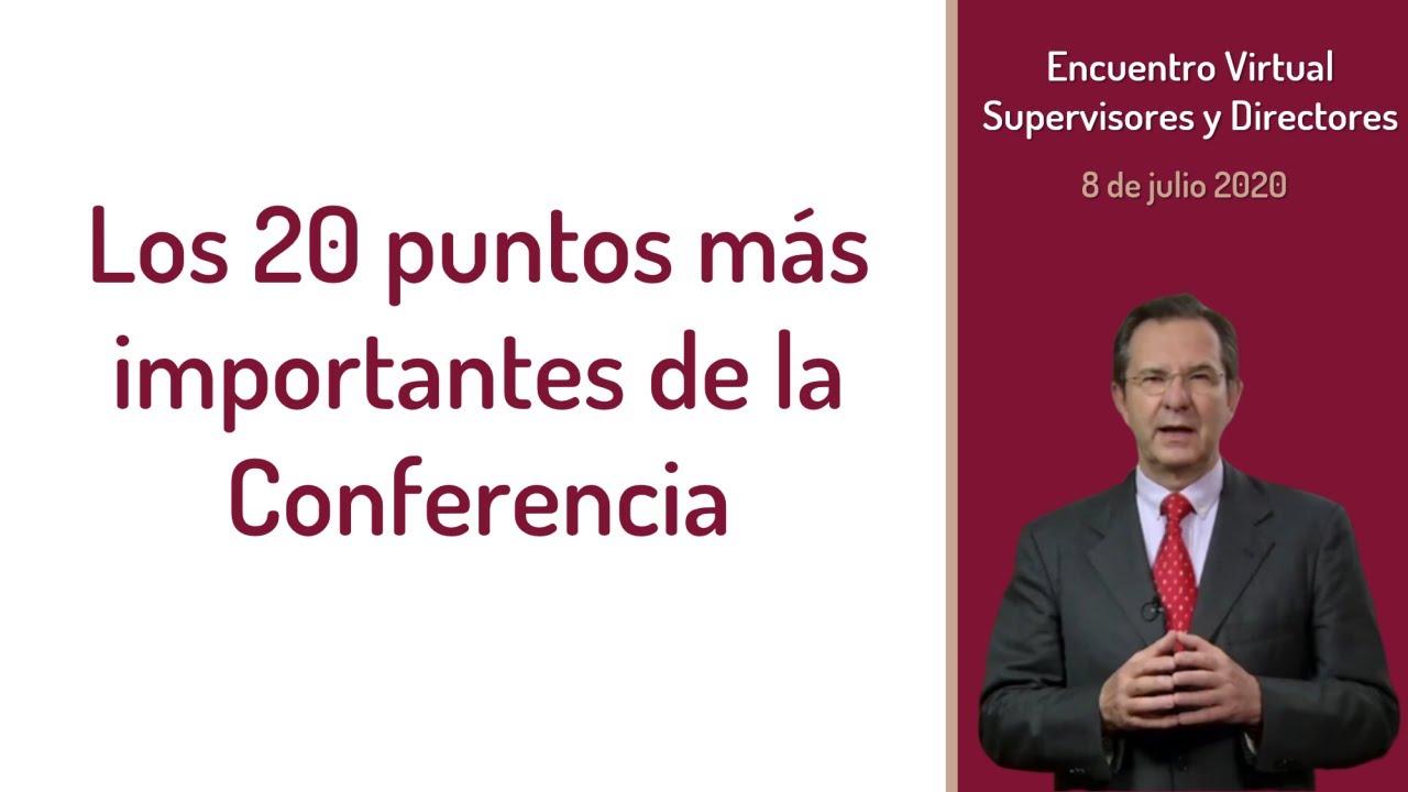 Los 20 PUNTOS más IMPORTANTES de la conferencia del Secretario de Educación