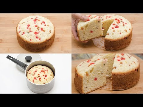 SUPER SPONGE TUTTI FRUTTI CAKE IN SAUCEPAN l EGGLESS & WITHOUT OVEN
