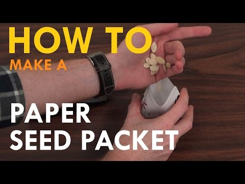 How to Fold Your Own Seed Packet