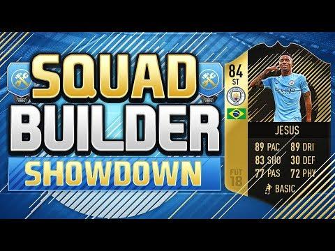 FIFA 18 SQUAD BUILDER SHOWDOWN!!!! THE BEST CARD ON FIFA 18!!! Inform Gabriel Jesus