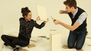 Eyelashes Vs Flat Pack Furniture: Challenge Jim With Zoella
