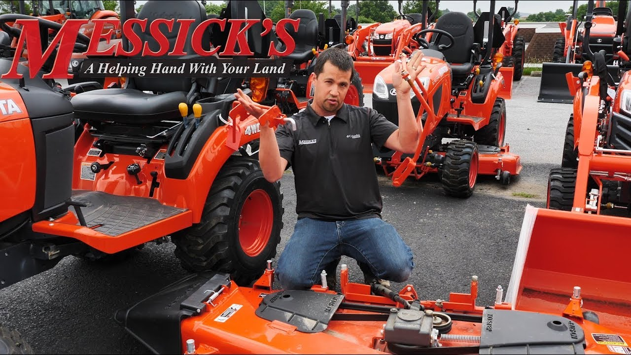 How to REMOVE AND INSTALL KUBOTA BX SERIES mower deck