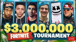 $3,000,000 FORTNITE Charity Pro Am ft. Vikkstar, Marshmello, Lachlan, Ninja, Ali-A & More!