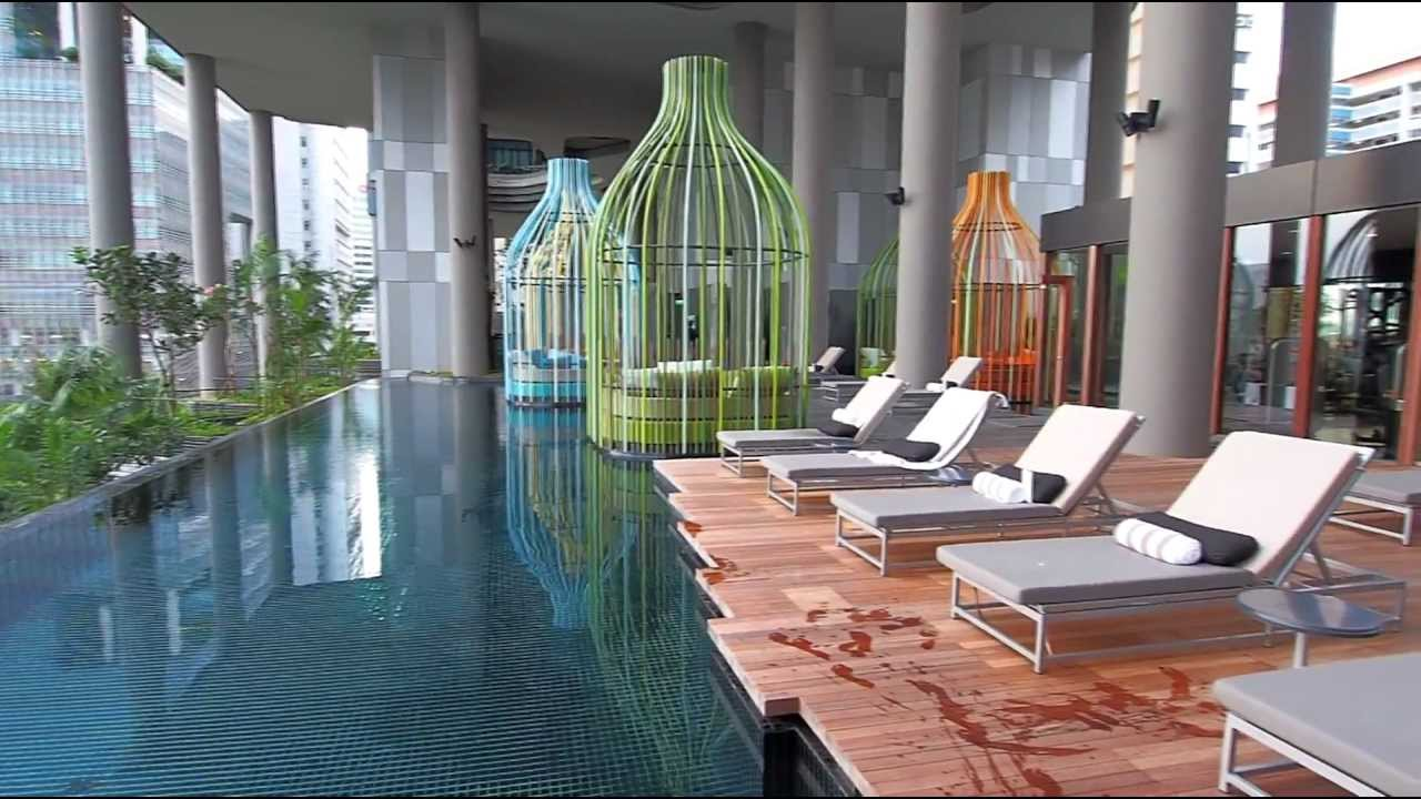 Parkroyal on pickering hotel singapore hotel video - Park royal pickering swimming pool ...