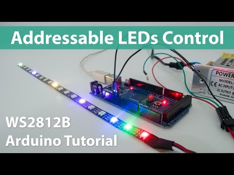 How To Control WS2812B Individually Addressable LEDs Using Arduino
