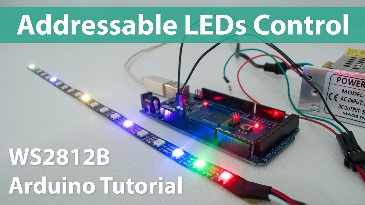 how to control ws2812b individually addressable leds using arduino howtomechatronics [ 1280 x 720 Pixel ]
