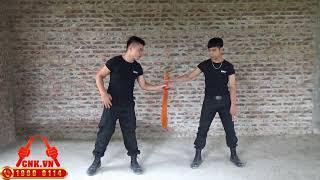 Mr. Huy Côn [Video 19] Hướng dẫn vụt côn nhị khúc động tác vụt chéo khi thủ côn dọc 1 bên tay