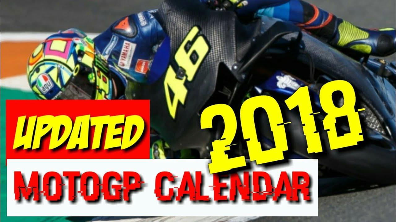 motogp 2018 calendar update