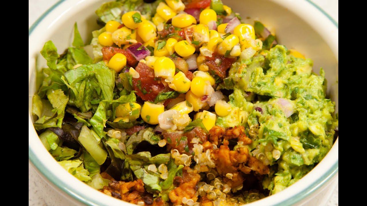 Vegan Quinoa Burrito Bowl Low Salt Youtube