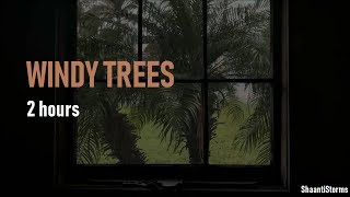 Windy Thunderstorm, Trees Blowing  - 2 Hours Rain Sounds for Sleep, Study & Relaxation