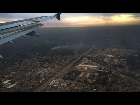 Landing at Baghdad Airport