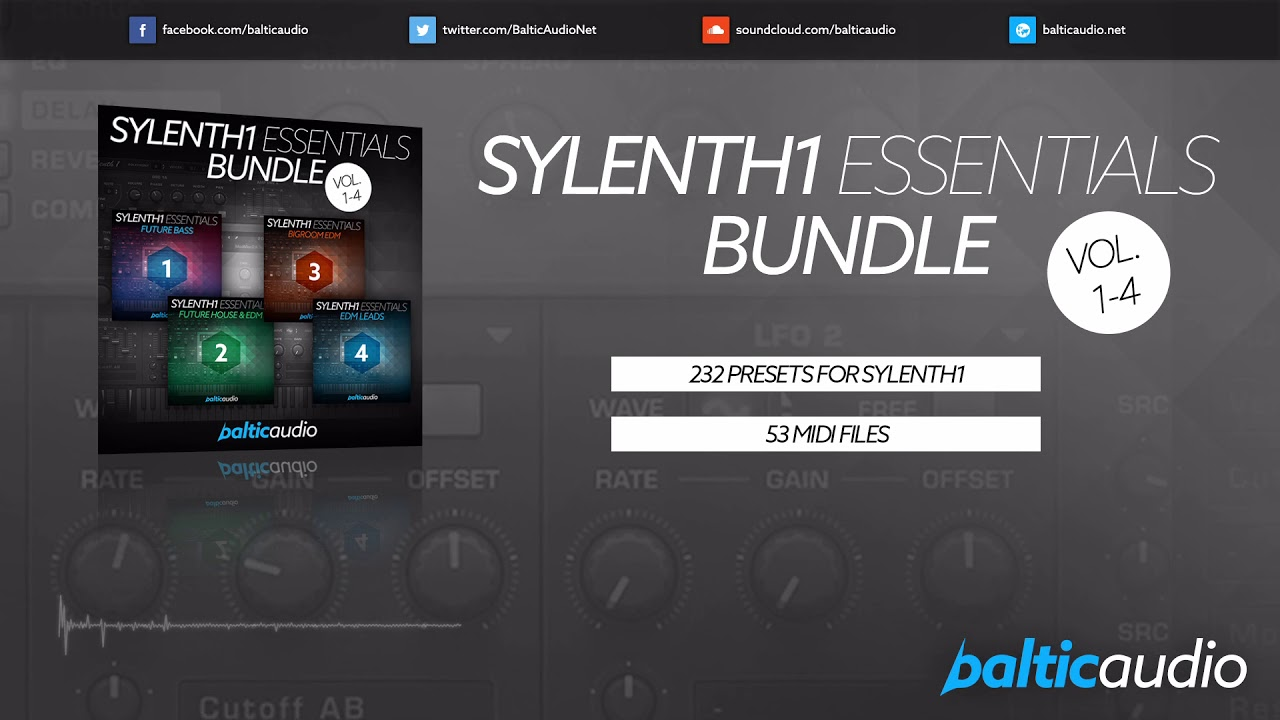 Sylenth1 Essentials Bundle (Vols 1-4) (232 Sylenth1 Presets, 53 MIDI Files)