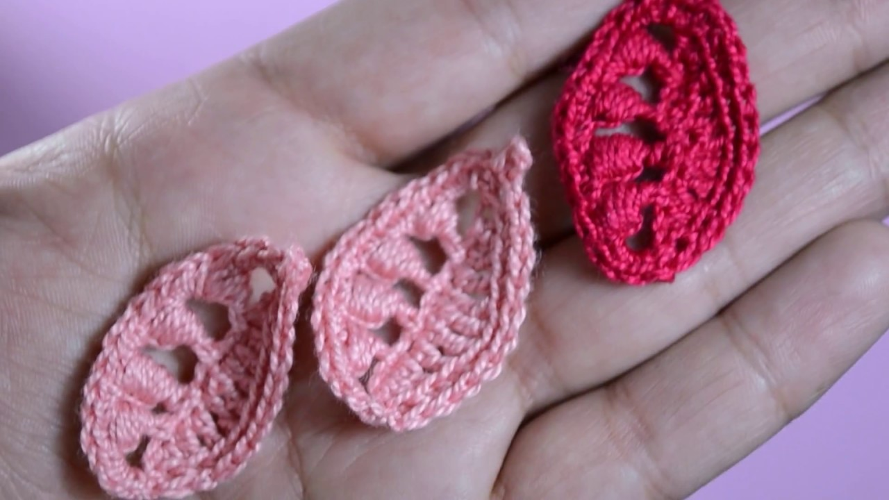 Falda en crochet irlandés paso a paso- hoja pequeña tejida al ...