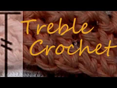 Crochet:TREBLE crochet(trc)/UK-DOUBLE TREBLE Crochet (dtr)stitch How to the treble crochet/SUBTITLES