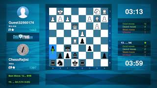 Chess Game Analysis: Guest32560174 - ChessRajini : 0-1 (By ChessFriends.com)