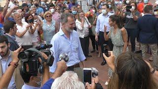 Los Reyes, muy arropados en su visita a Canarias