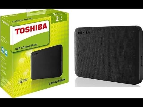 Toshiba Canvio Basics 2tb un boxing  connect and review. #harddrive #portable
