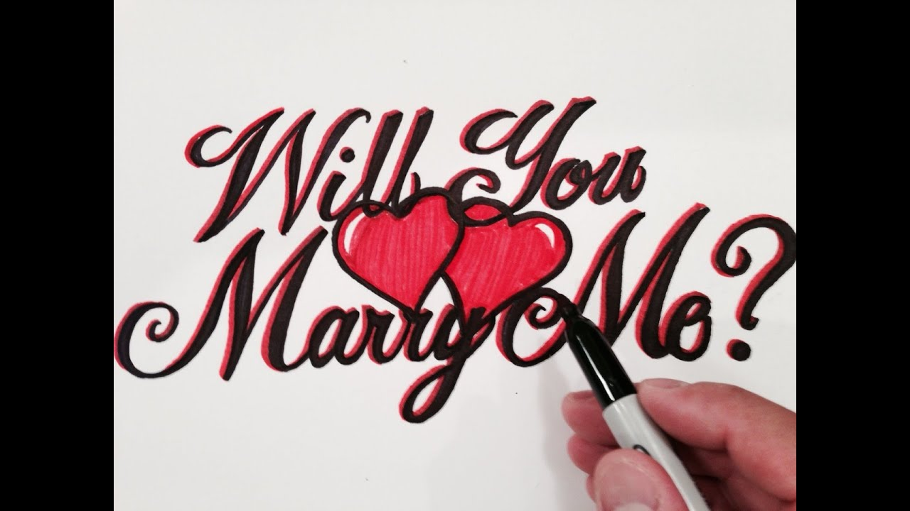 How to Write Will You Marry Me in Fancy Cursive with ...