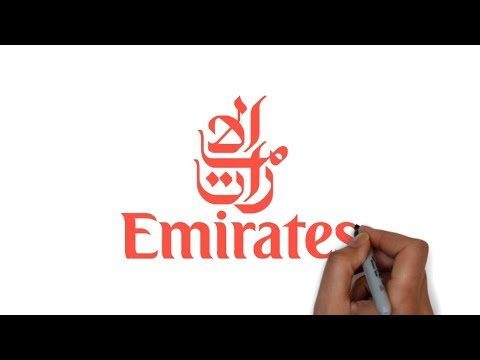 HOW TO DRAW EMIRATES LOGO