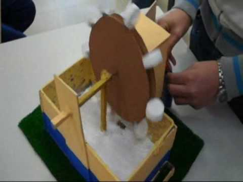 Proyecto mecanismos secundaria youtube for Mecanismos de estores caseros