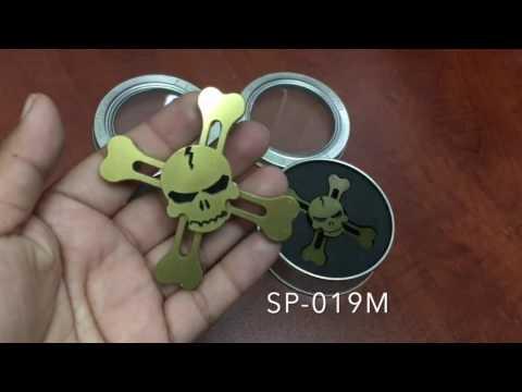 Skull Metal Spinner SP-0019M