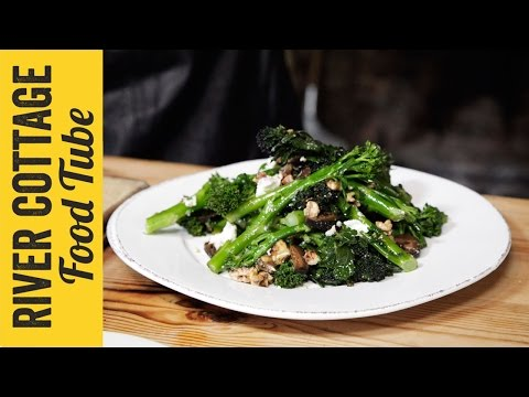 Broccoli & Goat's Cheese Winter Walnut Salad
