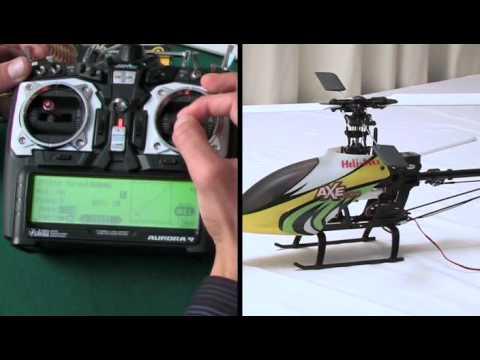 Aurora9 programmazione di un elicottero elettrico CCPM
