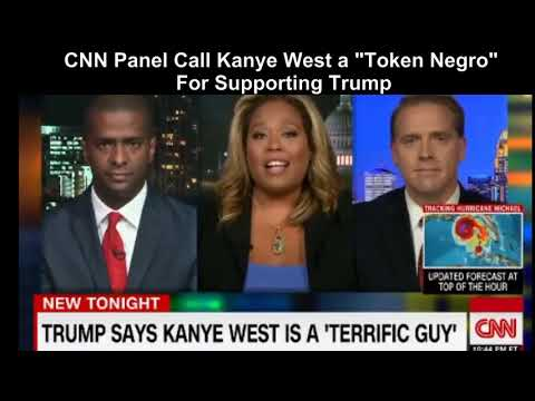 "CNN Panel Calls Kanye West a ""Token Negro"" For Supporting Trump."