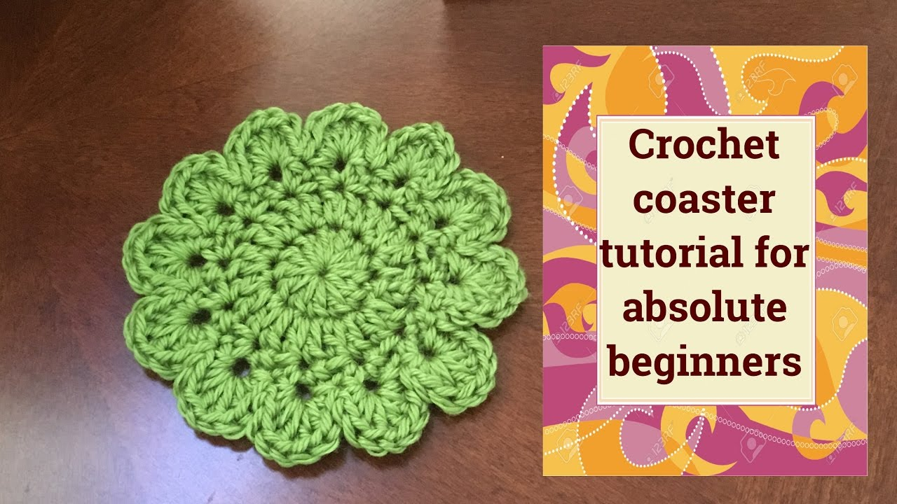 Coaster crochet tutorial for absolute beginners - YouTube