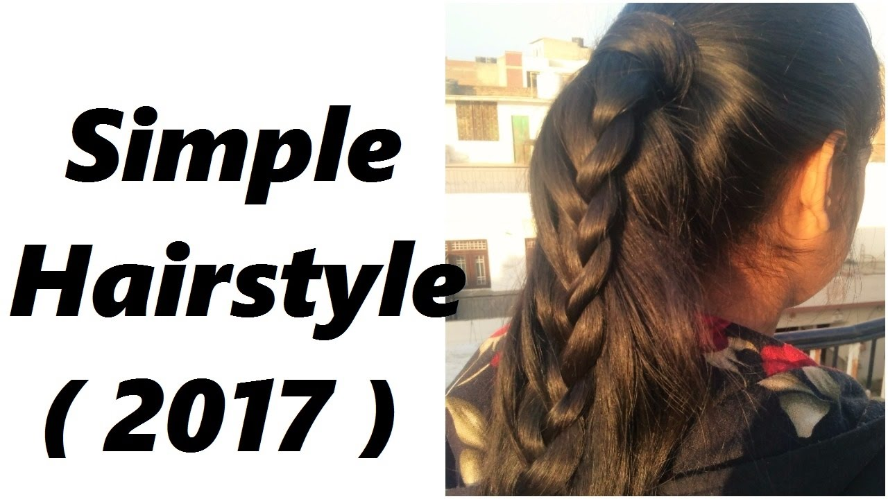Simple Hairstyle For Party Special Occasion 2017 Youtube