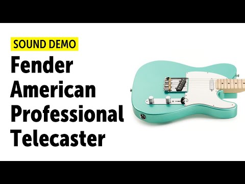 Fender American Professional Telecaster Sound Demo (no Talking)