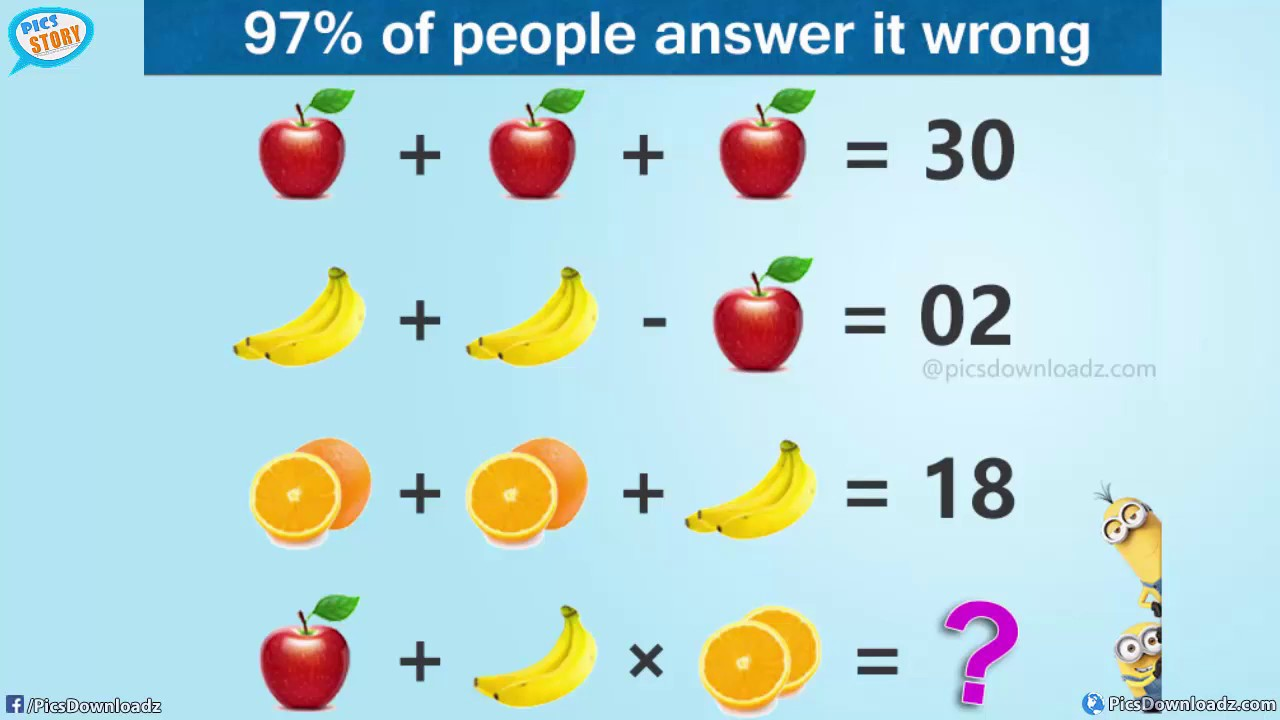The Viral Apple, Banana, & Orange Puzzle (with answer) - Genius Math ...