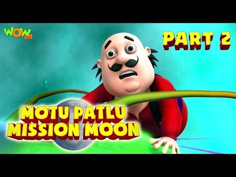 Motu Patlu Mission Moon - Movie - Part 2 | Movie Mania - 1 Movie Everyday | Wowkidz thumbnail