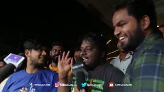 Sakka Podu Podu Raja - Review with Public | Santhanam, Vaibhavi | STR Musical
