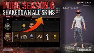 PUBG Season 6: Shakędown All Skins (Survivor Pass 2020)