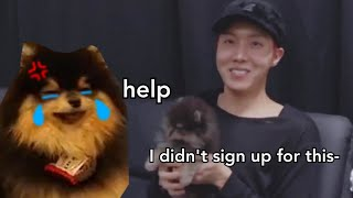 Yeontan being done with BTS