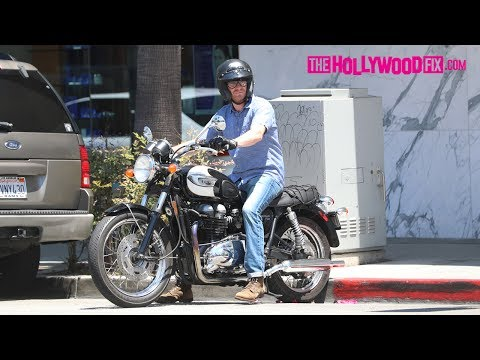 Bryan Greenberg Jamie Chung's Husband Runs Errands On His Motorcycle In Beverly Hills 6.19.17