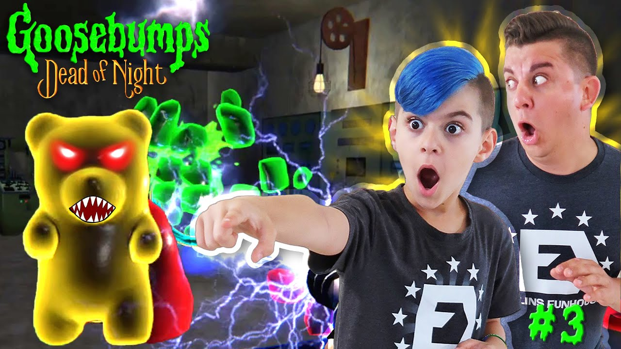 SLAPPY SENT KILLER GUMMY BEARS! Goosebumps DEAD OF NIGHT Chapter 3 (TESLA TOWER)