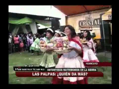 Las Palpas de Huancayo: invitados compiten por ofrecer el mejor regalo de bodas