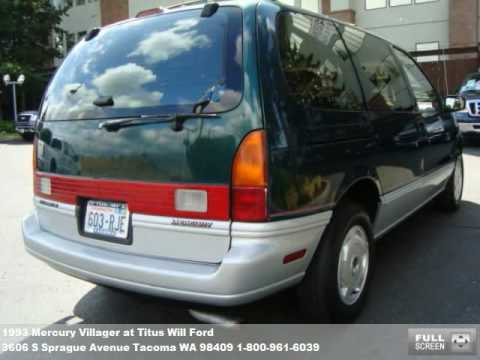Titus Will Tacoma >> 1993 Mercury Villager, $3999 at Titus Will Ford in Tacoma ...