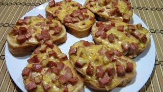Горячие бутерброды с колбасой и сыром за 20 минут!!! / Hot sandwiches