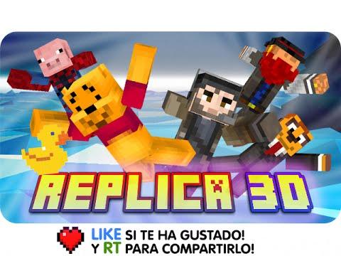REPLICA 3D! EL PATITO FEO! | Minecraft Blitz Build - Exo, Macundra, Sarinha, Gona Y Luh