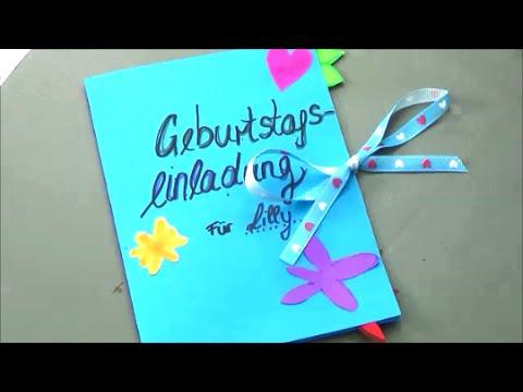Einladung Zum 10. Geburtstag Selber Basteln   YouTube