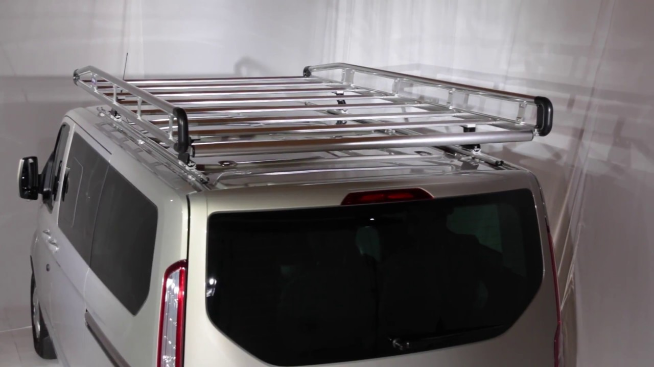 Roof Rack Ladder >> Roof rack AluRack Ford Transit Custom - YouTube