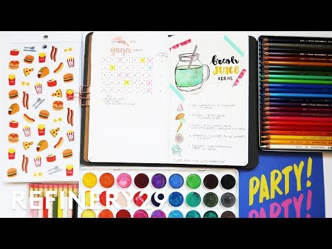 5 Days Of Bullet Journaling Follow Up | Lucie Fink Vlogs | Refinery29